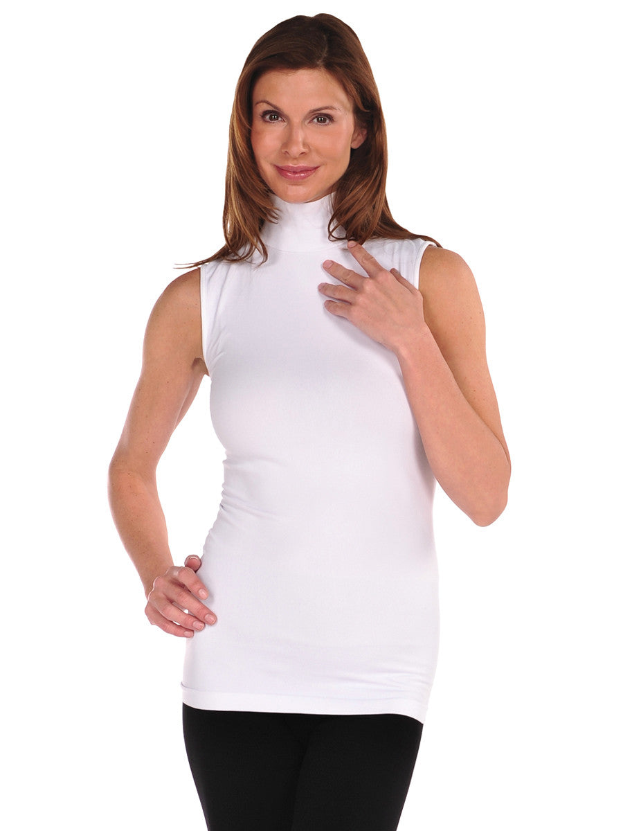 Sleeveless Mock Neck