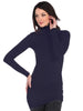 Long Sleeve Mock Tunic Slip Dress