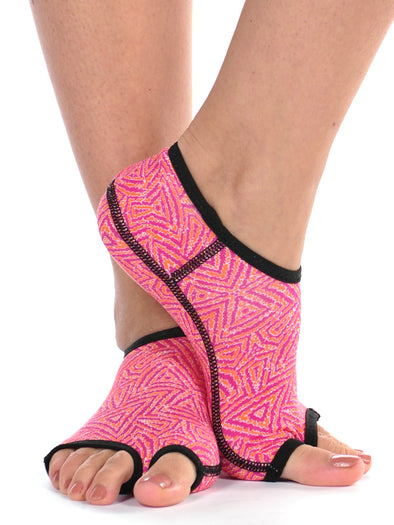 PureToes-Tangerine/Hot Pink Tribal - FINAL SALE