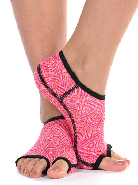 PureToes-Tangerine/Hot Pink Tribal