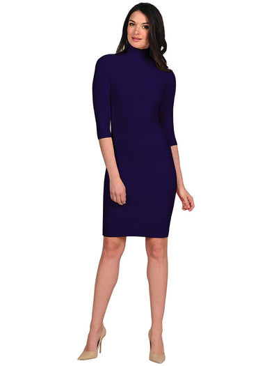 Textured Mock Neck Dress - FINAL SALE