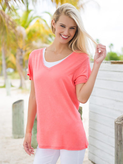 Gwen Relaxed Fit V-Neck Tee - FINAL SALE