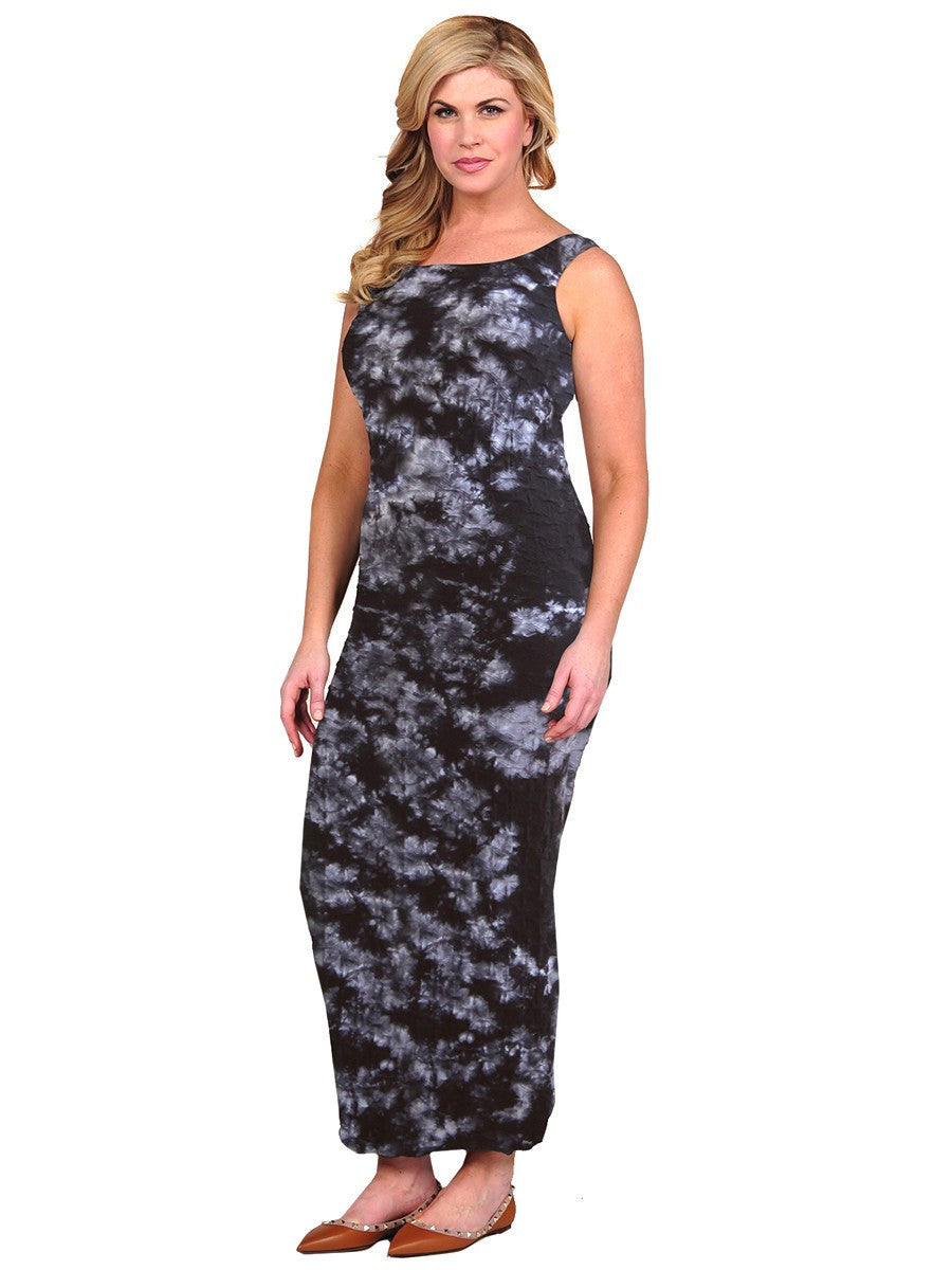 Lattice Tie Dye Maxi Dress Tina Stephens Group