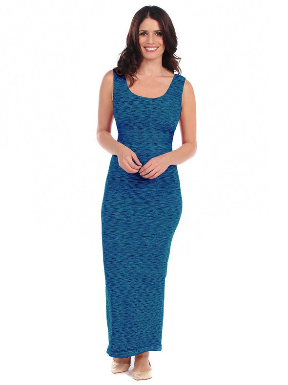 36DM-275 Cobalt/Black Marled Maxi Dress