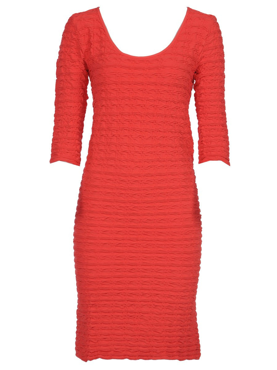 SCOOP NECK CRINKLE DRESS/MIRACLE DRESS-MATERNITY