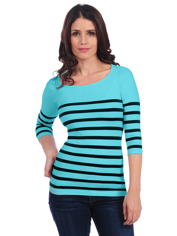 Nautical Stripe 3/4 Sleeve-Maternity