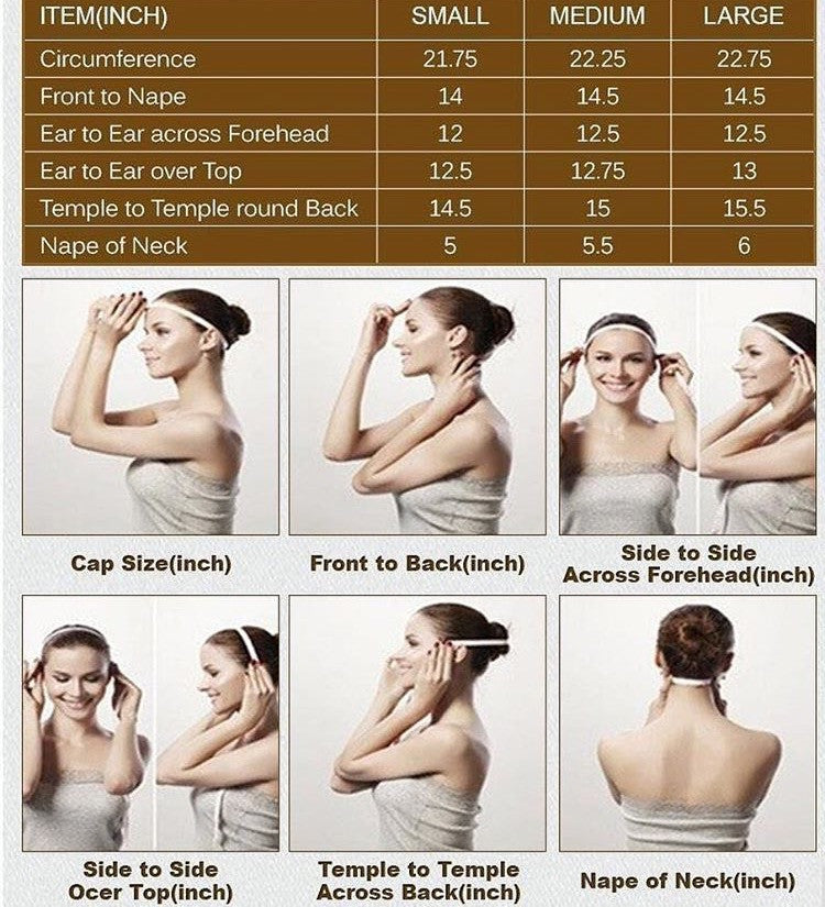 Wig measurements