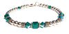 14kt Gold Filled May Birthstone Bracelets in Simulated Green Emerald Swarovski Crystals