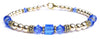 14kt Gold Filled September Birthstone Bracelets in Simulated Blue Sapphire Swarovski Crystals
