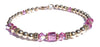 14kt Gold Filled October Birthstone Bracelets in Simulated Pink Tourmaline Swarovski Crystals