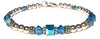 14kt Gold Filled December Birthstone Bracelets in Simulated Blue Zircon Swarovski Crystals