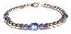 14kt Gold Filled December Birthstone Bracelets in Simulated Indigo Tanzanite Swarovski Crystals