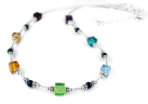Crystal Authentic Chakra Necklace 7 Stone Chakra Balancing, Alignment, Crystal Healing NEC-CHA03