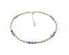 14k GF Blue Kyanite Gemstone Beaded Anklets, December Birthstone Crystal Healing Ankle Bracelets