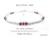 Handmade Red Garnet Anklets Sterling Silver Gemstone January Birthstone Jewelry