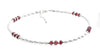 Handmade Red Garnet Anklets Sterling Silver Gemstone January Birthstone Jewelry  - DAMALI by GemstoneGifts Handmade Jewelry