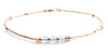 Minamalist 14kt Gold-Filled Dainty Anklets w/  Gemstones: Aquamarine Minamalist Gemstone Anklets - DAMALI by GemstoneGifts Handmade Jewelry