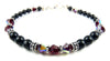 Black Pearl Jewelry: Bracelets w/ Simulated  Red Garnet in Swarovski Crystal Birthstone Colors