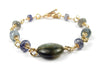 14K GF Gold Meditation Bracelet & Spiritual Journey Crystal Healing Bracelet for Women