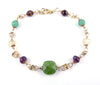 14K GF Gold Prosperity Bracelet - Abundance Crystal Healing Bracelet for Women