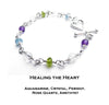 Emotional Healing Bracelet - Healing the Heart Crystal Healing Bracelet:  - DAMALI by GemstoneGifts Handmade Jewelry