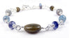 Silver Meditation Bracelet & Spiritual Journey Crystal Healing Bracelet for Women