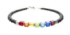 Swarovski Crystal 7 Chakra Bracelet, Genuine Gemstones, 925 Silver Meditation, Yoga, Mala Intention Bracelet B7013