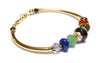 14K GF Genuine Chakra Bracelet, Gemstone Inspirational Yoga Prayer Mala Intention Bracelet B7040