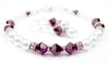 Freshwater Pearl Jewerly Sets: Real Pearl Bracelets Simulated Red Garnet in Swarovski Crystal Birthstone Colors