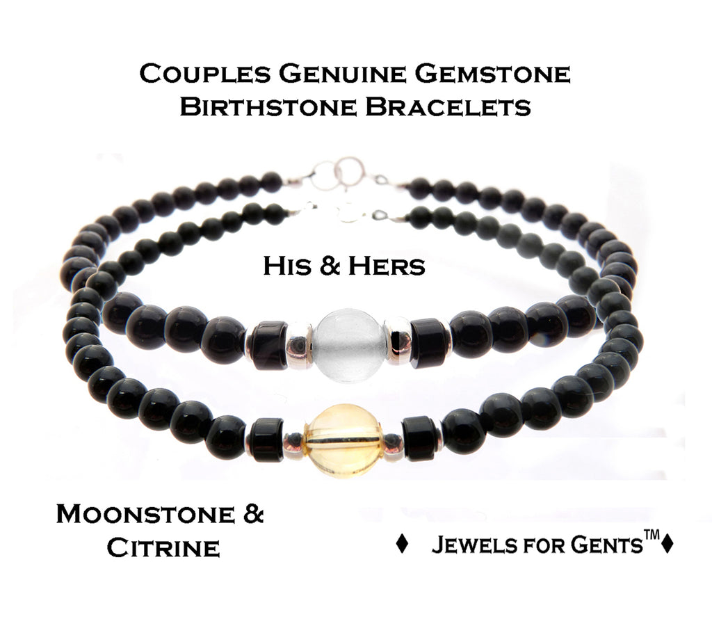 Couples Bracelets, Friendship Bracelets, Matching Bracelets, Father Son Bracelets  - DAMALI by GemstoneGifts Handmade Jewelry