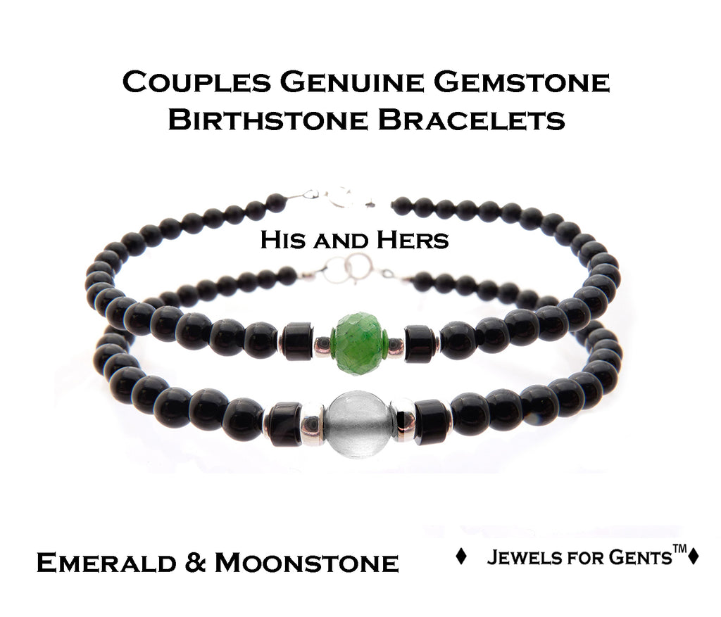 Friendship Bracelets, Matching Relationship Bracelets, Father Son Bracelets, Couples Birthstone Bracelets  - DAMALI by GemstoneGifts Handmade Jewelry