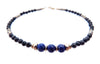 Black Tourmaline & Lapis Lazuli Cosmopolitan Style Beaded Bracelets  - DAMALI by GemstoneGifts Handmade Jewelry