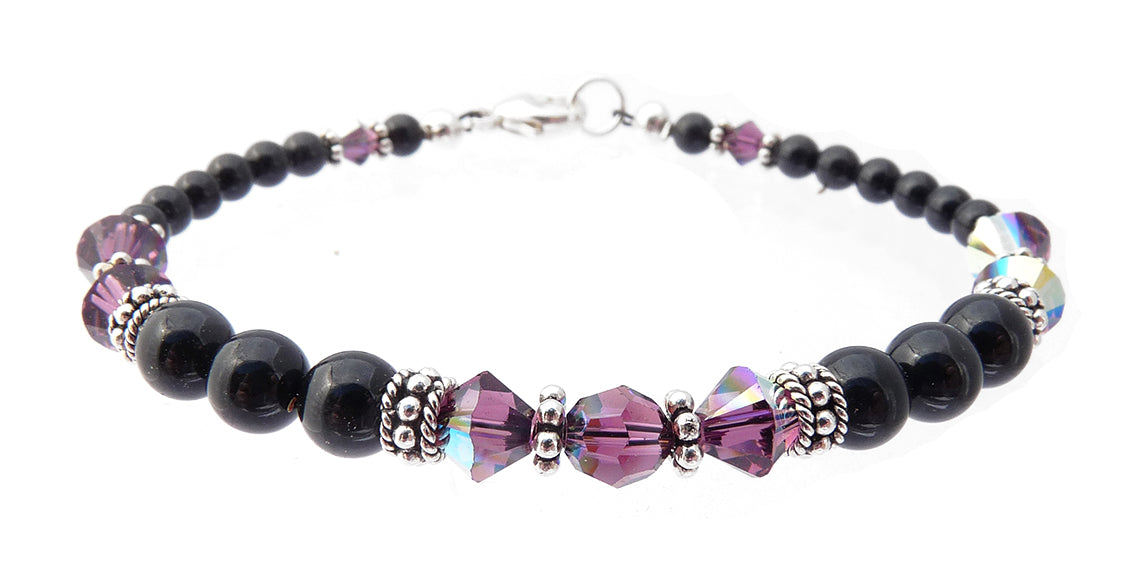 obsidian new freshwater pearl design bracelet black product pearls