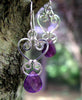 Silver Chandelier Earrings |  Amethyst Purple Chandelier Earrings  - DAMALI by GemstoneGifts Handmade Jewelry