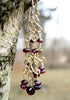 Handmade 14k Gold Filled Red Garnet Chandelier Earrings