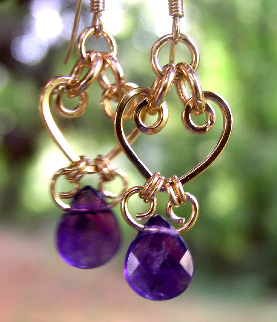 Gold Chandelier Earrings | Amethyst Purple Crystal Chandelier Earrings Gold Chandelier Earrings - DAMALI by GemstoneGifts Handmade Jewelry