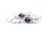 Pearls Earrings: Silver 8mm Freshwater Pearl June Alexandrite Swarovski Crystal Earrings
