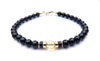 Gold Mens Citrine Birthstone Bracelet, 14K GF November Gemstone Beaded Bracelet, Jewels for Gents