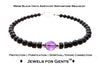 Mens Amethyst Bracelet, Black Onyx February Birthstone Bracelet | Mens Zodiac Power Stones Bracelet | Jewels for Gents  - DAMALI by GemstoneGifts Handmade Jewelry