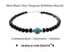 Mens Turquoise Bracelet, Black Onyx December Birthstone Bracelet | Mens Zodiac Power Stones Bracelet | Jewels for Gents  - DAMALI by GemstoneGifts Handmade Jewelry