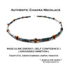 Mens Jasper Necklace, Gemstone Beaded Crystal Healing Chakra Jewels for Gents