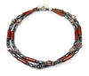 Mens Pietersite Necklace,  Gemstone Beaded Crystal Healing Chakra Jewels for Gents MNNEC13