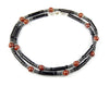 Mens Jasper & Black Onyx Beaded Necklace, Gemstone Crystal Healing Jewels for Gents MNNEC06