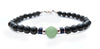 Mens Dark Peridot Birthstone Bracelet, 14K GF August Gemstone Beaded Bracelet, Jewels for Gents