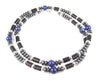 Mens Lapis Lazuli Necklace, Gemstone Beaded Crystal Healing Chakra Jewels for Gents MNNEC15
