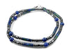 Mens Lapis Lazuli Necklace, Gemstone Beaded Crystal Healing Chakra Jewels for Gents MNNEC23