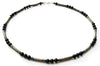 Mens Onyx Necklace, Gemstone Beaded Crystal Healing Chakra Jewels for Gents MNNEC24