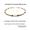 Mens Handmade Jasper & Agate Crystal Healing Necklace for Courage and Strength