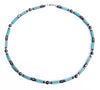 Mens Turquoise Necklace, Gemstone Beaded Crystal Healing Chakra Jewels for Gents