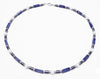 Mens Sodalite & Blue Lace Agate Gemstone Beaded Crystal Healing Chakra Jewels for Gents MNNEC39